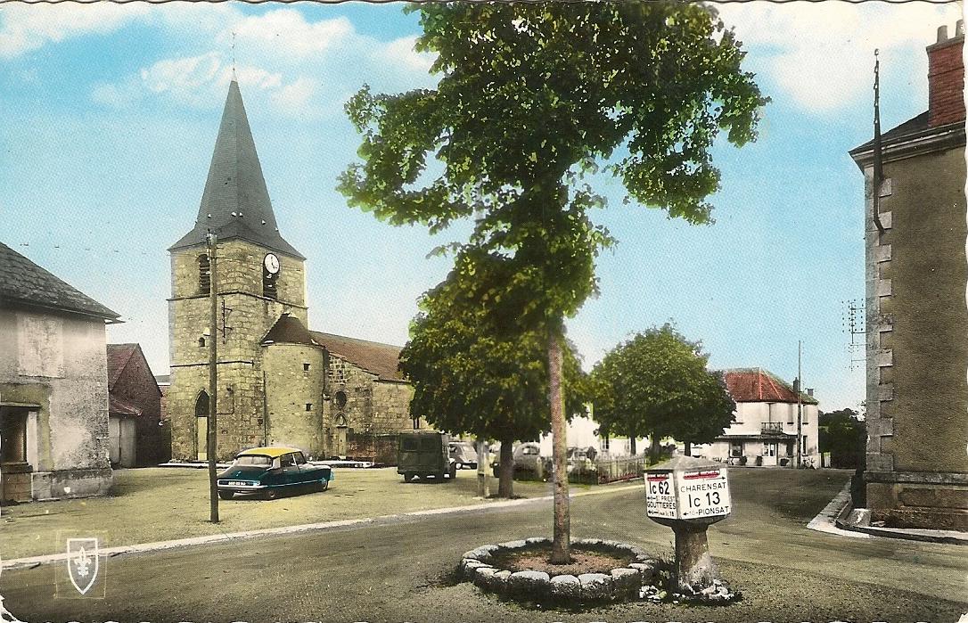 Le bourg dans les années 1960